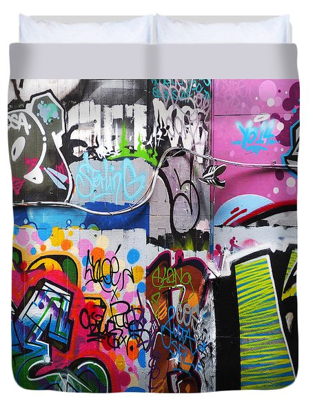 London Skate Park Abstract Duvet Cover