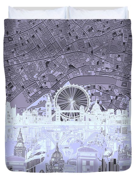 London Skyline Abstract 10 Duvet Cover