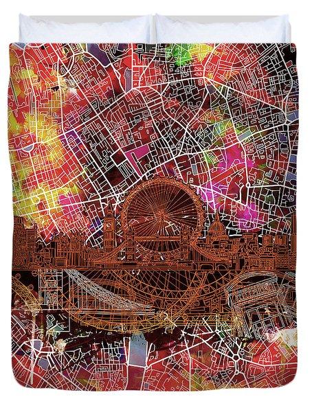 London Skyline Abstract 5 Duvet Cover