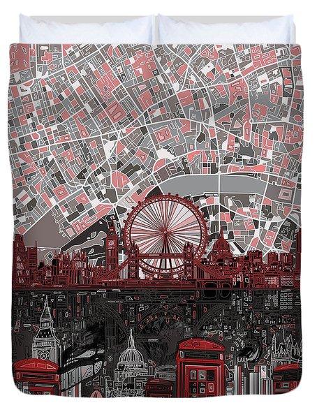 London Skyline Abstract 6 Duvet Cover