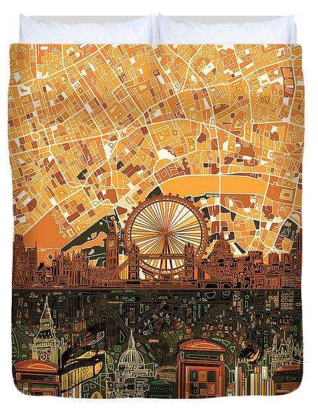 London Skyline Abstract 7 Duvet Cover