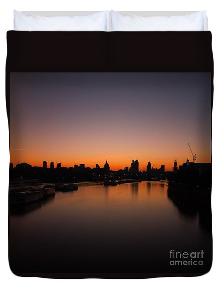 London Sunrise 2 Duvet Cover