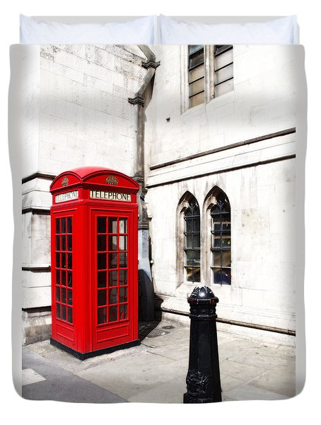 London Telephone Box Duvet Cover