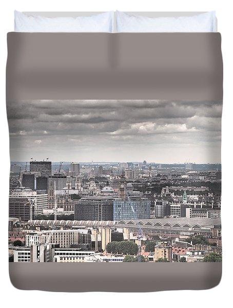 London Under Grey Skies Duvet Cover