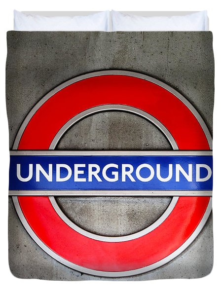 London Underground Sign Duvet Cover
