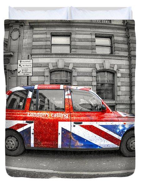 London's Calling Duvet Cover