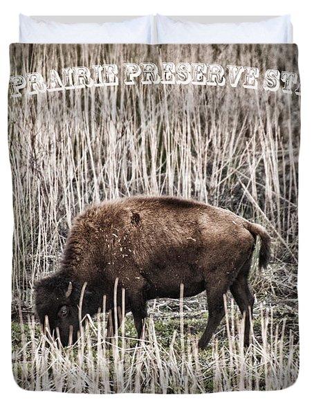 Lone Buffalo Duvet Cover