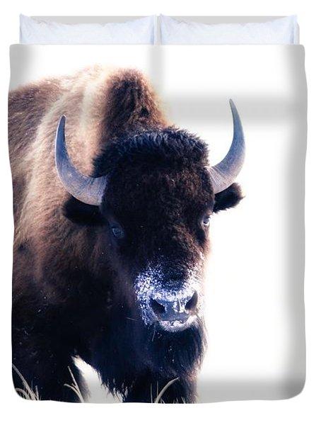 Lone Bull Duvet Cover