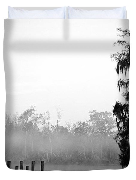 Lone Cypress Duvet Cover by Chris Pietraroia