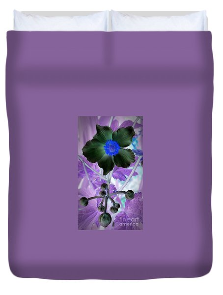 Lone Flower 1 Duvet Cover by Chalet Roome-Rigdon