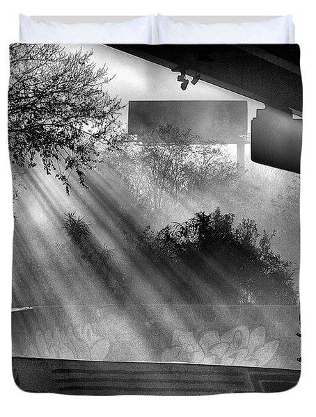 Lone Skater Duvet Cover by Scott Wyatt