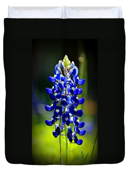 Lone Star Bluebonnet Duvet Cover by Stephen Stookey