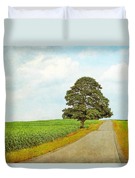 Duvet Cover featuring the photograph Lone Tree by Brooke T Ryan
