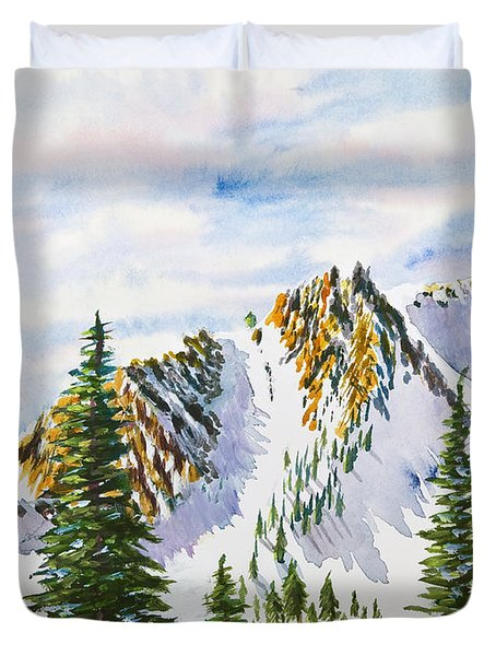 Lone Tree In The Morning Duvet Cover