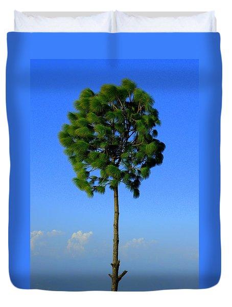 Lone Tree Duvet Cover by Salman Ravish