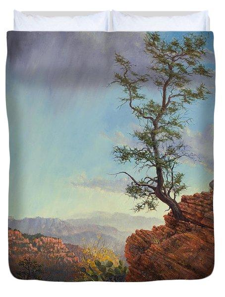 Lone Tree Struggle Duvet Cover