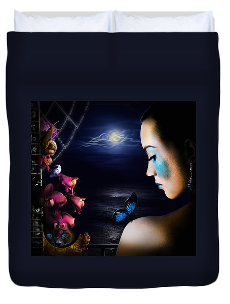 Lonely Blue Princess And The Villains Duvet Cover