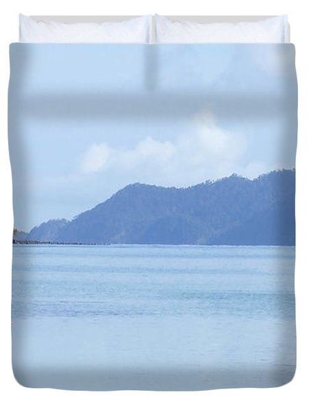 Duvet Cover featuring the photograph Lonely Boat by Andrea Anderegg
