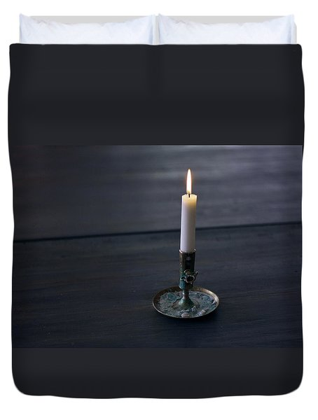 Lonely Candle Duvet Cover