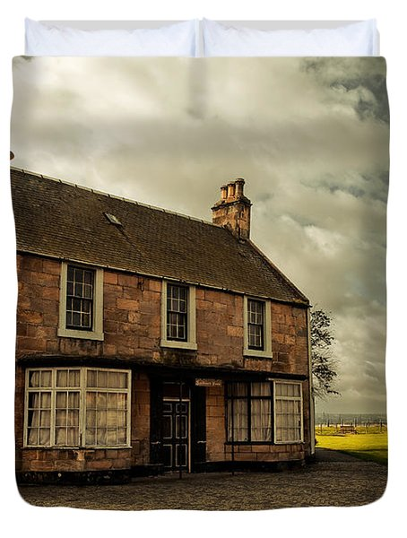 Lonely House On The Shore Of The River Forth. Culross Sketches. Scotland Duvet Cover by Jenny Rainbow