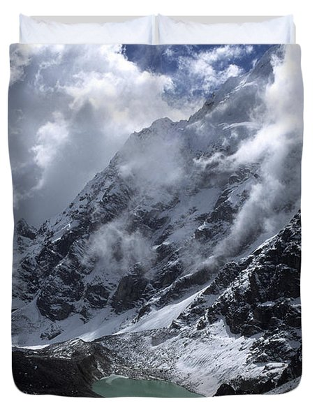 Lonely Lake On The Inca Trail Duvet Cover