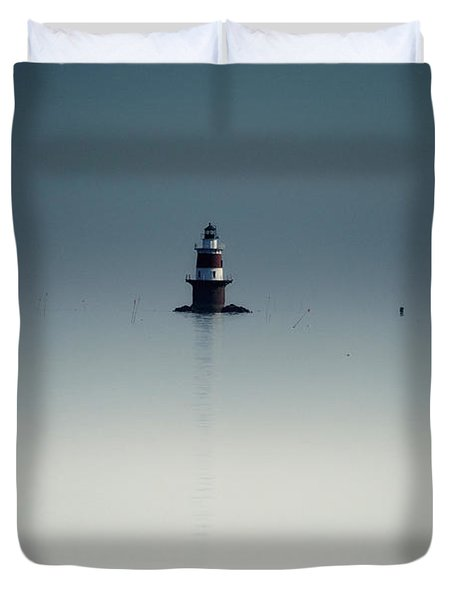 Lonely Lighthouse  Duvet Cover by Karol Livote
