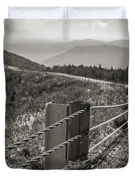 Lonely Mountain Road Duvet Cover by Edward Fielding