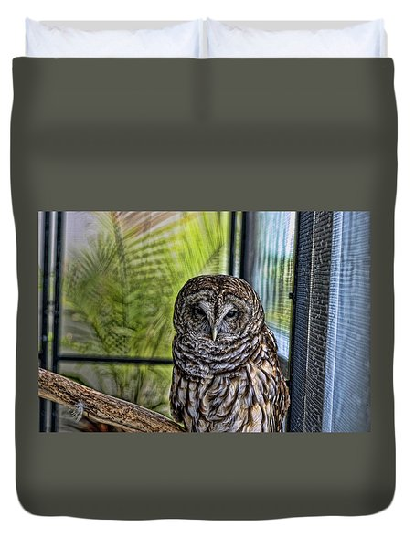 Lonely Owl Duvet Cover