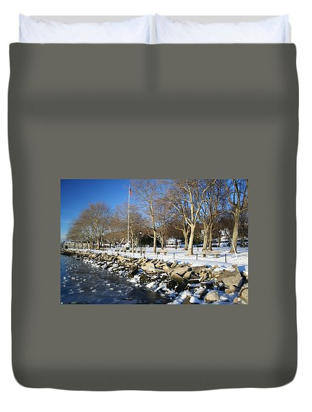 Lonely Park Duvet Cover