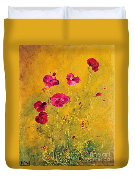 Lonely Poppies Duvet Cover