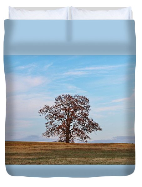 Lonely Tree Duvet Cover by Cynthia Guinn
