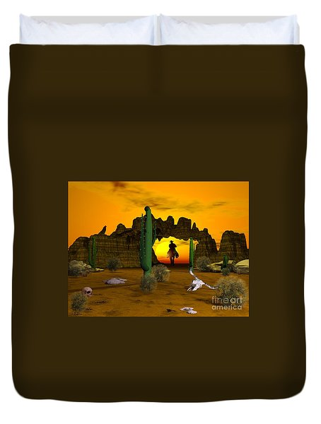 Lonesome Dove Duvet Cover