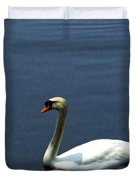 Lonesome Swan Duvet Cover