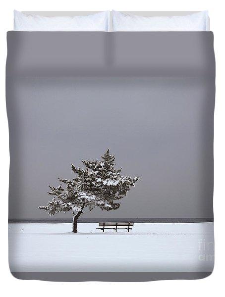 Lonesome Winter Duvet Cover by Karol Livote
