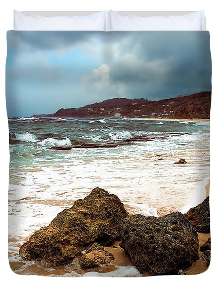 Long Bay - A Place To Remember Duvet Cover by Hannes Cmarits