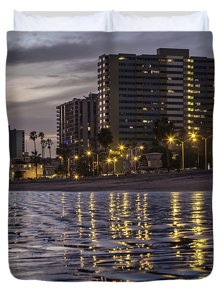 Long Beach Evening Duvet Cover