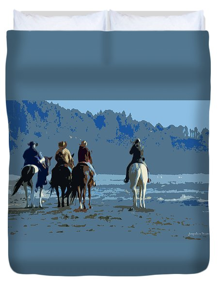Long Beach Horses Study					 Duvet Cover