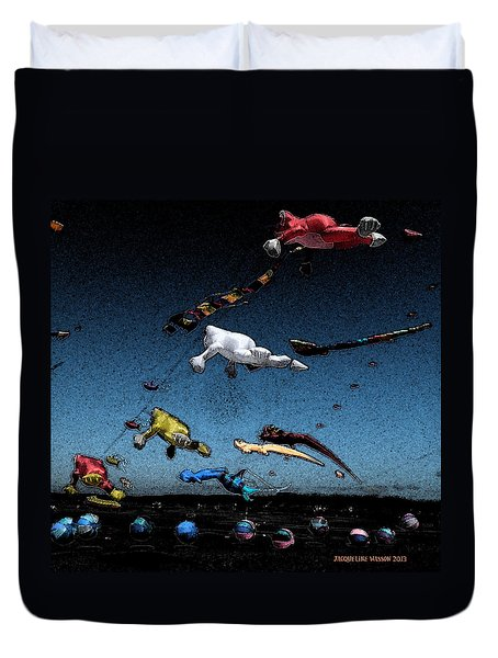 Long Beach Kites 2012				 Duvet Cover