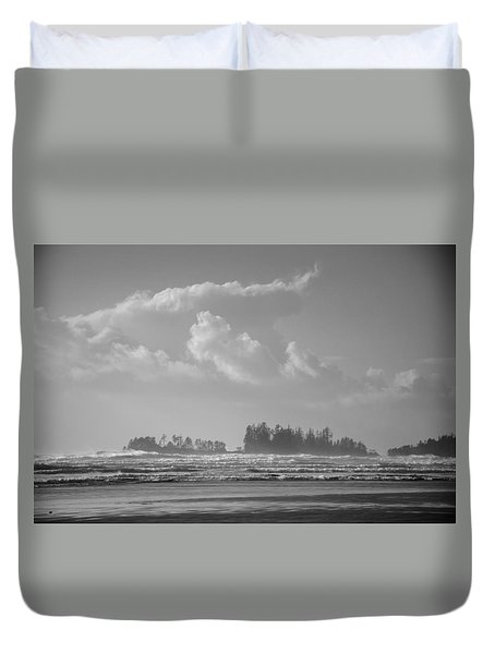 Long Beach Landscape  Duvet Cover by Roxy Hurtubise