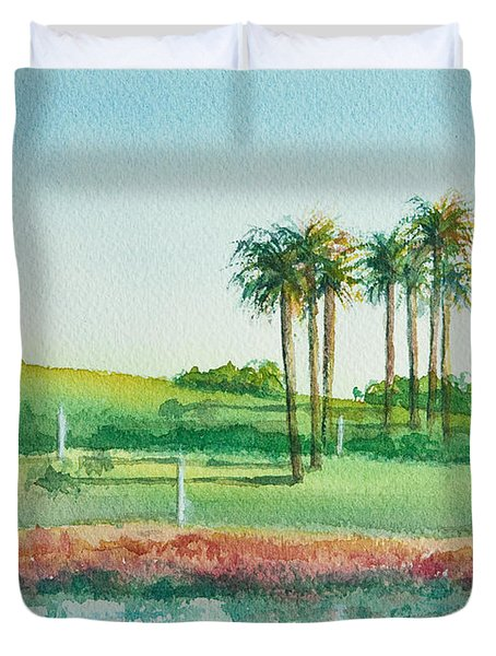 Long Beach Lighthouse Duvet Cover