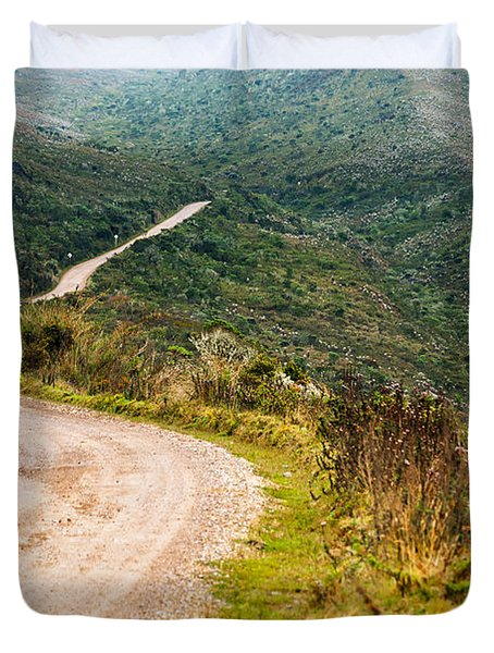 Long Country Road Duvet Cover by Jess Kraft