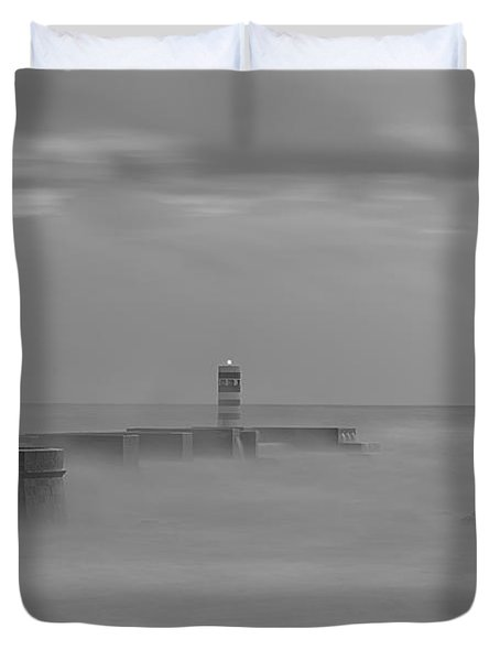 Long Exposure In Oporto In Bad Weather Duvet Cover