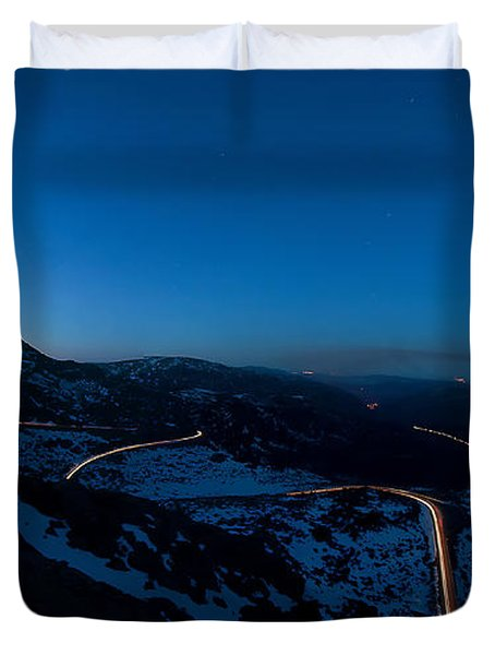 Long Exposure In Serra Da Estrela Portugal Duvet Cover
