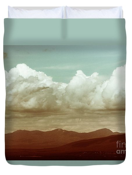 Duvet Cover featuring the photograph Long Horizon by Dana DiPasquale