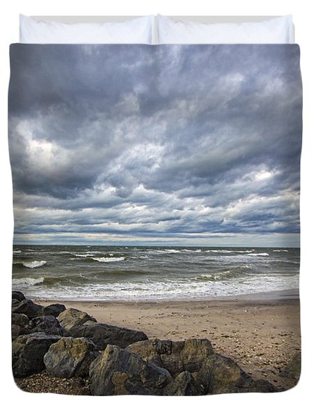 Long Island Sound Whitecaps Duvet Cover