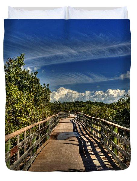 Duvet Cover featuring the photograph Long Key Park Passage by Julis Simo