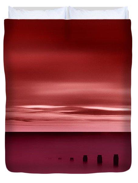 Long Red Sunset Duvet Cover