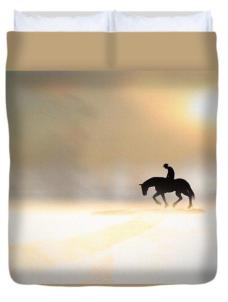 Long Ride Home Duvet Cover by Bob Orsillo