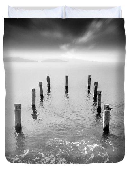 Long Silence Duvet Cover by Taylan Apukovska