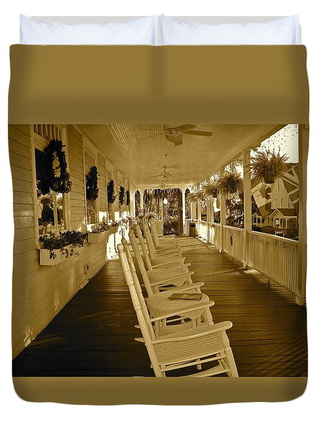 Long Southern Porch Duvet Cover